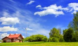 If you live in a windy area, a backyard turbine can help generate the energy you need.