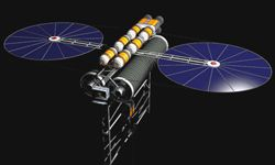 A space elevator may become an alternative to blasting rockets into the atmosphere.