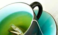 Green tea is high in antioxidants.