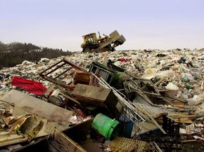 Not the greenest method of disposing of construction and demolition waste.