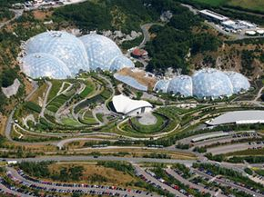 The large-scale environmental complex, the Eden Project can be found in this dis-used quarry near St Austell.