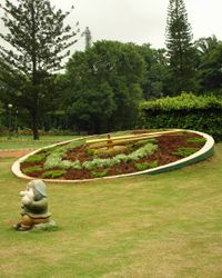 A timepiece at the Lalbagh Botanical Garden