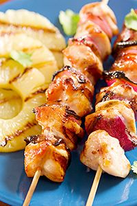 Grilled fruit makes the perfect side to your summer kabaobs!