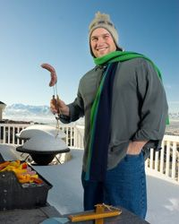 Grilling year-round is increasing in popularity, but it takes fortitude to pull it off. See more pictures of extreme grilling.