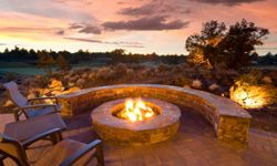 A gathering around a beautiful fire pit like this one would make anyone forget the cold.