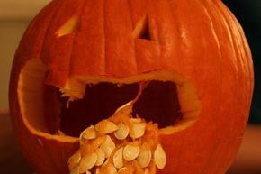 As unpleasant as it is to throw up, people are so fascinated by this bodily function that it's often a common feature of pumpkin carving.
