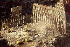Ground Zero on Oct. 21, 2001, one month after the 9/11 attacks.
