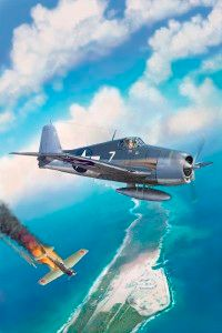 The Grunman F6F Hellcat's virtues were so great pilots became aces (five kills) after their first engagements.
