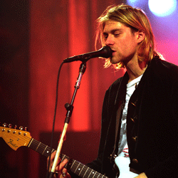 Kurt Cobain's look fronting the band Nirvana epitomized the first wave of grunge style.