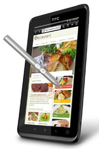Users can make notations on Web pages with the Flyer/EVO View's stylus.