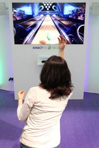 Microsoft's Kinect peripheral for the Xbox 360 lets you play video games without a physical controller.