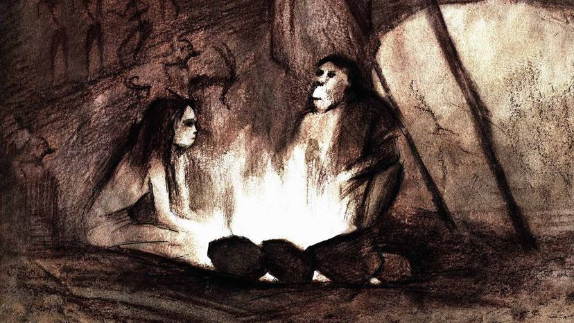 Neanderthals in cave
