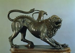 A 5th-century bronze depicts the wounded Chimera of Lycia. Today's scientists are creating their own version of the chimera. See more cloning pictures.