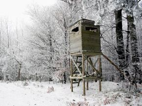 Hunters use blinds when hunting a variety of targets, including waterfowl, deer and turkeys.