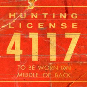 An antique hunting license from the 1930s.