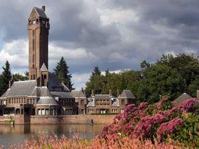 Dutch cultural heritage, the St. Hubertus hunting lodge in De Hoge Veluwe national park