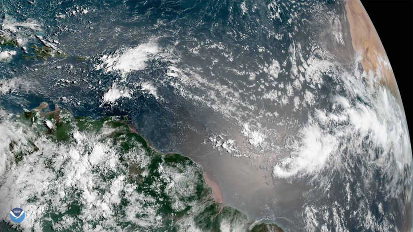 storms off Africa