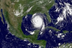 Hurricane Katrina thunders through the Gulf of Mexico on Aug. 28, 2005. A day later, it made landfall. According to the Federal Emergency Management Agency, 1,833 people ultimately died as a result of the storm.
