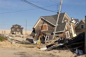 A house in New Jersey sits demolished in the wake of Hurricane Sandy.