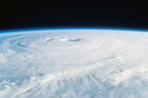 Are hurricanes getting more severe? Hurricane Isabel, a Category 5 storm that hit the East Coast in 2003, looked pretty intense when seen from orbit.