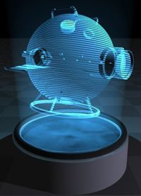 3-D image of the Death Star created by holography
