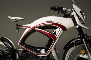 The bike maintains a low center of gravity: Its gas tank is the only heavy component mounted high up.