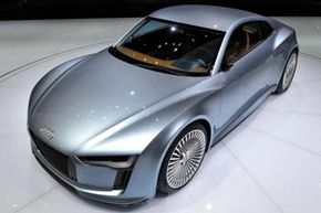 How much would it cost to insure this Audi E-Tron electric sports car? See more pictures of sports cars.