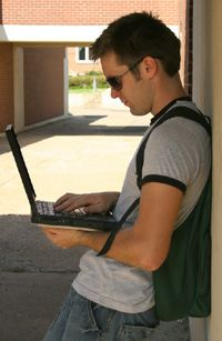 Today's college student wants to access the Internet throughout the campus network.