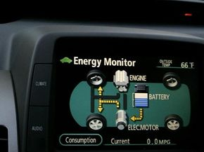Hybrid system indicators are a big leap from old fuel gauges in terms of how much data they display.