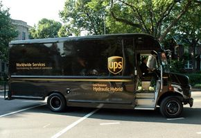 Hydraulic hybrids (like this UPS delivery truck) use energy efficiently and produce less pollution than conventional cars.