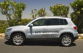 The Volkswagen Tiguan HyMotion is an example of a concept vehicle powered by a hydrogen fuel cell. See more pictures of alternative fuel vehicles.
