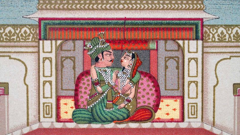 Indian marriage illustration