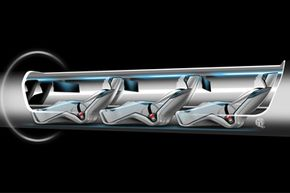 This cutaway of the Hyperloop passenger capsule gives you an idea of what it might be like to sit in the proposed transportation system.