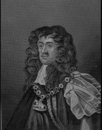 King Charles II, the ruler of England when habeas corpus first became law.