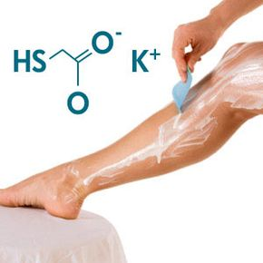 Dissolved disulfide bonds gives hair removal creams that bad smell. See more pictures of unusual skin care ingredients.