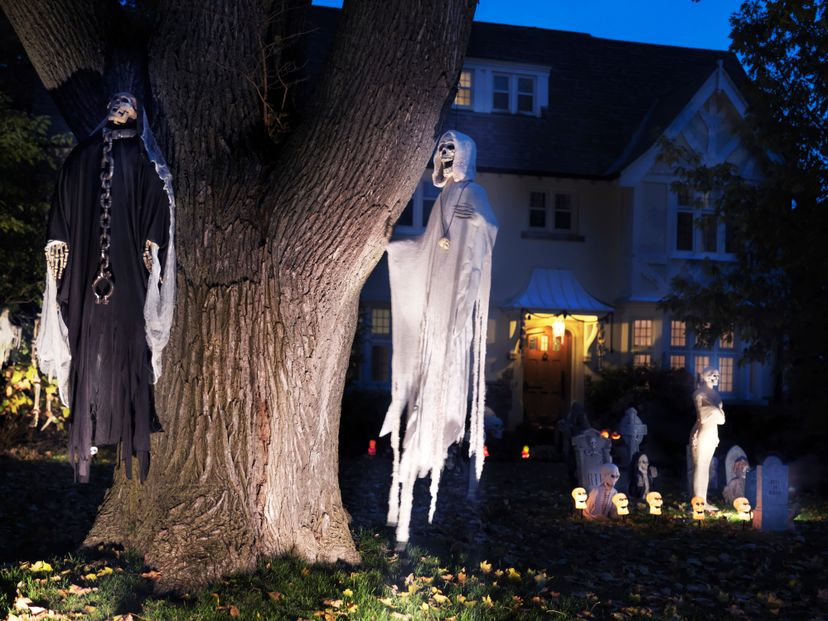 There have been cases where a real-life corpse was mistaken for part of some Halloween decorations. Oleksiy Maksymenko/Getty Images