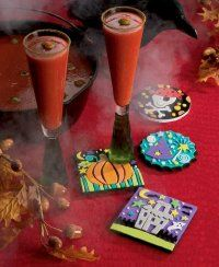 Decorative and practical, our creepy coasters are a hit at any Halloween party.