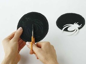 Embroidery scissors are perfect for cutting small details.