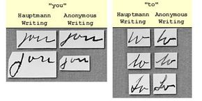 Partial results of handwriting analysis in Lindbergh kidnapping case