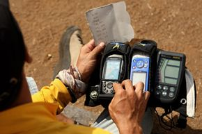 Using a handhled GPS device can be handy on an outdoor adventure.
