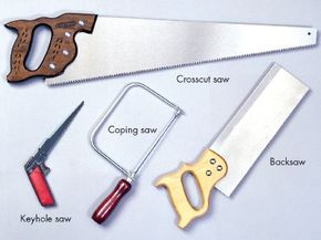 A wide selection of handsaws is available to perform a variety of cutting tasks.