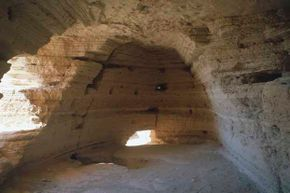 Cave IV at Qumran in Israel is one of 11 caves where Dead Sea Scrolls were discovered.