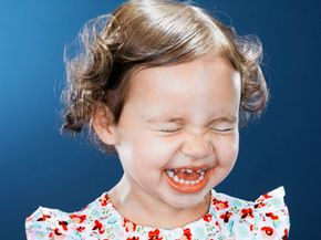 This giggly little girlmay live a long life.