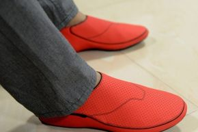Could these sporty shoes lead to easier navigation for the vision-impaired?