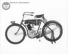 The first Harley-Davidson was basically a motorized bicycle.