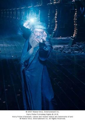 """Michael Gambon as Albus Dumbledore in Warner Bros. Pictures' fantasy """"Harry Potter and the Order of the Phoenix."""""""