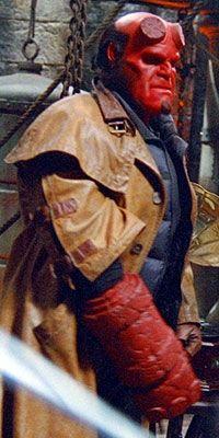 A champion of good, Hellboy (Ron Perlman)