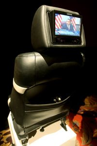 Car Gadgets Image Gallery The Audiovox FLO/TV seatback television system is pictured during the International Consumer Electronics Show (CES), Wednesday, Jan. 7, 2009 in Las Vegas, Nev. See more pictures of car gadgets.