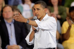 President Obama speaks at a town hall on health care reform in Montana.