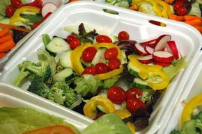 A salad is not only a low-calorie, high-fiber meal. It also comes packed with vitamins and nutrients. See more salad pictures.